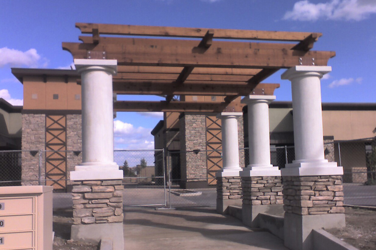 Fenolio Construction Inc. turlock Ca New Commercial Center Entry