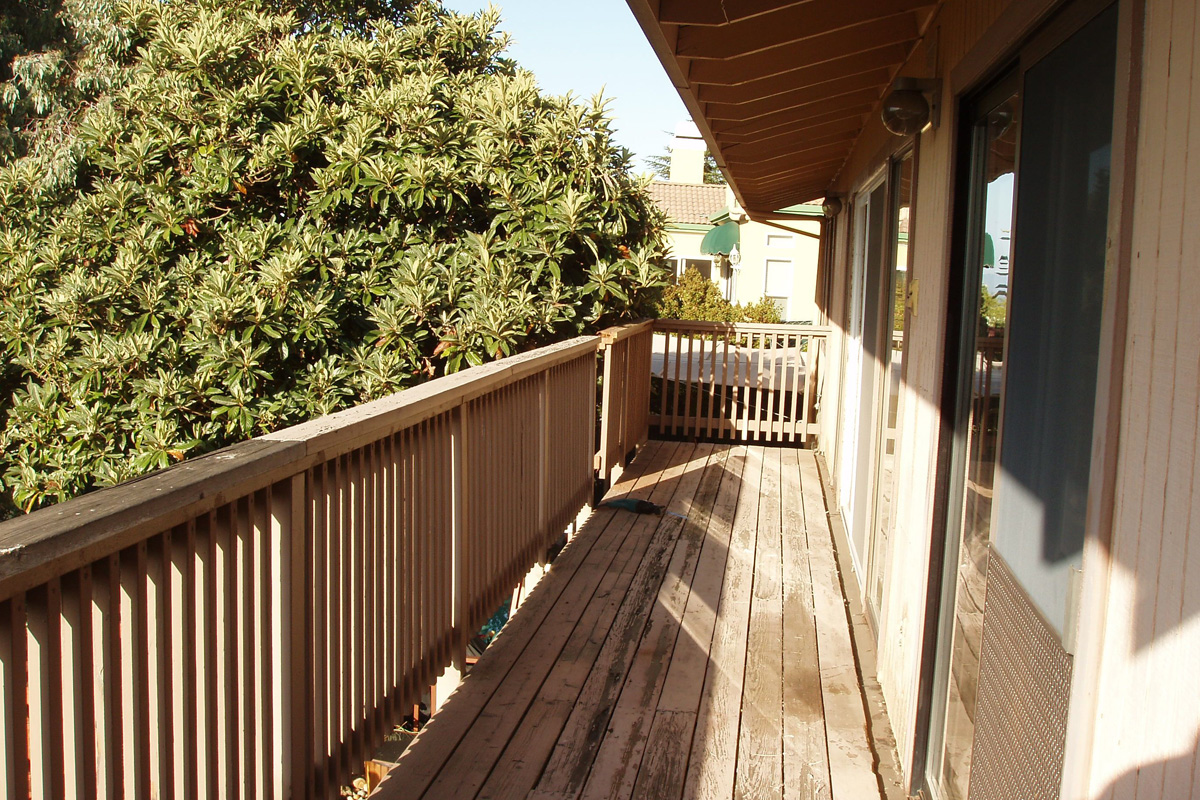 DA Fenolio Construction Management & Design San Jose CA Deck Remodel Before
