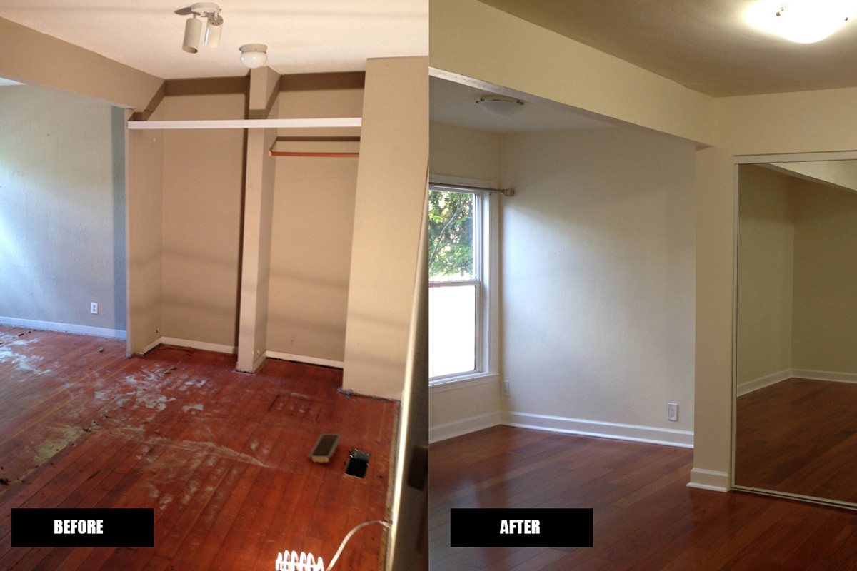 DA Fenolio Construction Management & Design Los Gatos CA Apartment Building Bedroom Renovation